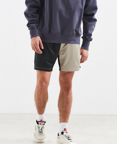 New-Most-Selling-Men-Colorblock-Mesh-Short