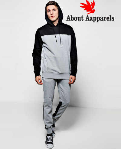 New-Stylish-Colour-Block-Hooded-Tracksuit-With-Piping