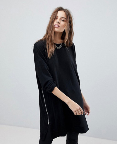 New-Stylish-Longline-With-Zipper-Sweatshirt