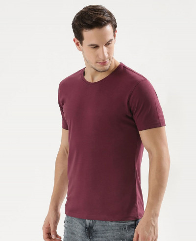 New-Stylish-Maroon-Crew-Neck-T-Shirt