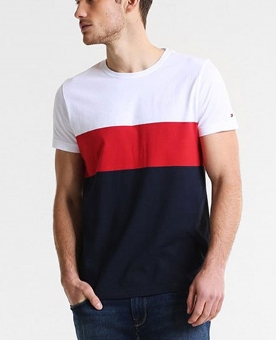 New-Stylish-Men-Colour-Block-Custom-T-Shirt