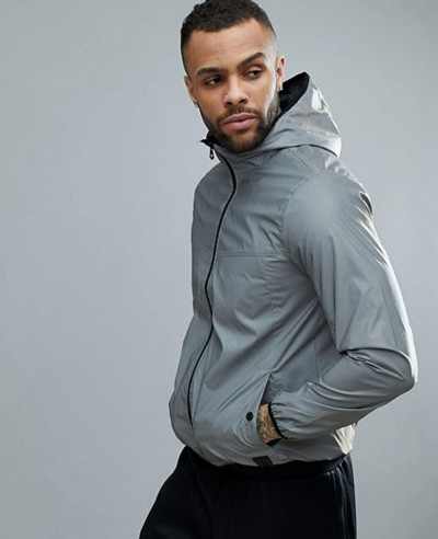 New-Stylish-Men-Grey-Custom-Windbreaker-Jacket