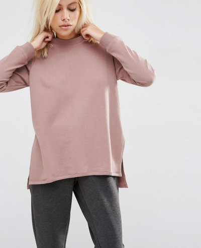 New-Stylish-Side-Split-Zipper-Women-Sweatshirt
