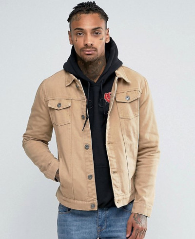 New-Stylish-Tan-Denim-Jacket
