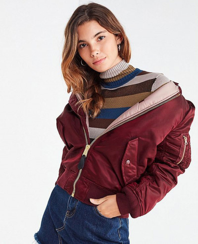 New-Stylish-Women-Bomber-Satin-Varsity-Jacket