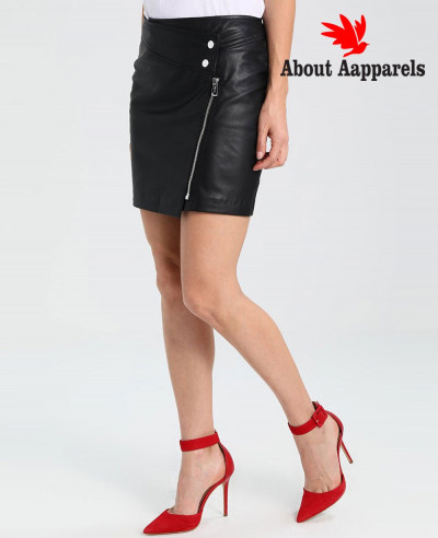 New-Stylish-Women-Custom-Leather-Mini-Skirt