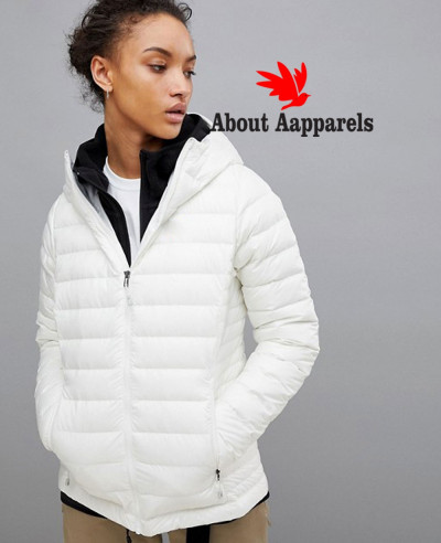 New-Stylish-Women-Custom-White-Quilted-Padded-Jacket