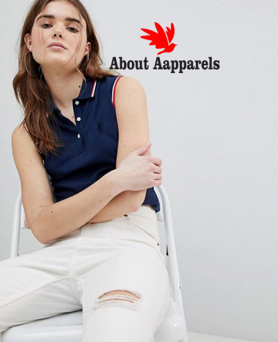 New-Stylish-Women-Sleeveless-Polo-Shirt