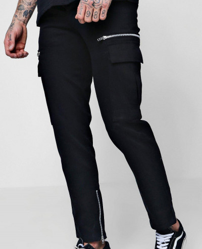 New-Zipper-Men-Slim-Fit-Cargo-Trousers