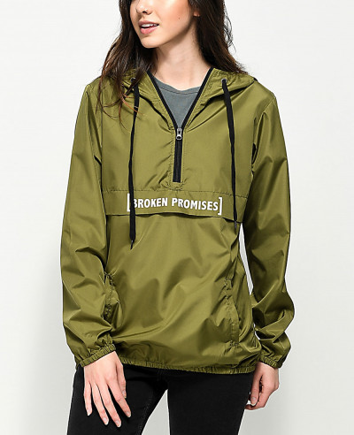 Olive-Green-New-Windbreaker-Adjustable-Drawstring-Hood-Jacket