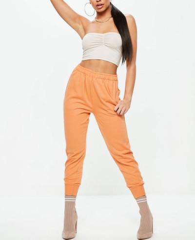 Orange-Twisted-Seam-Clean-Fleece-Sweatpant-Jogger