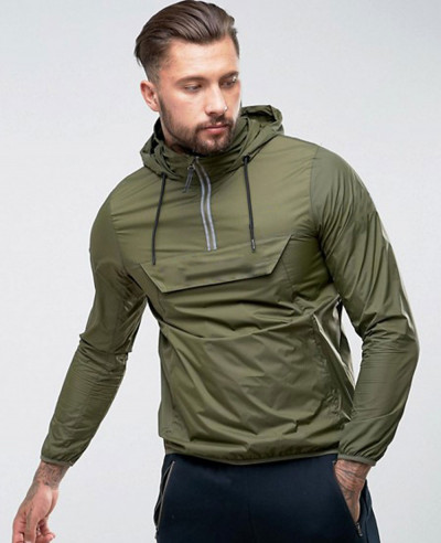 Overhead-Jacket-With-Reflective-Logo-In-Green