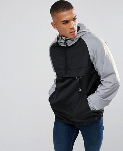 Overhead-Windbreaker-Jacket-In-Black-With-Reflective-Sleeves