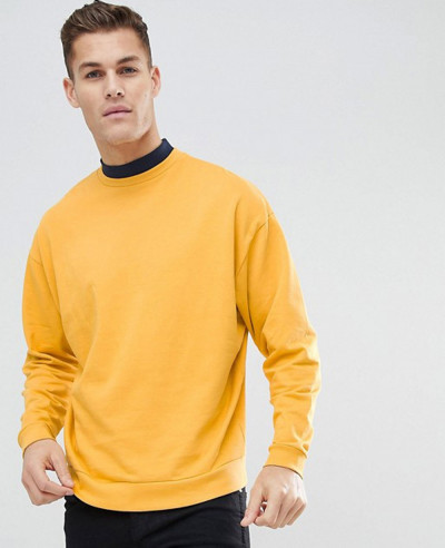 Oversized-Sweatshirt-With-Double-Layer-Neck