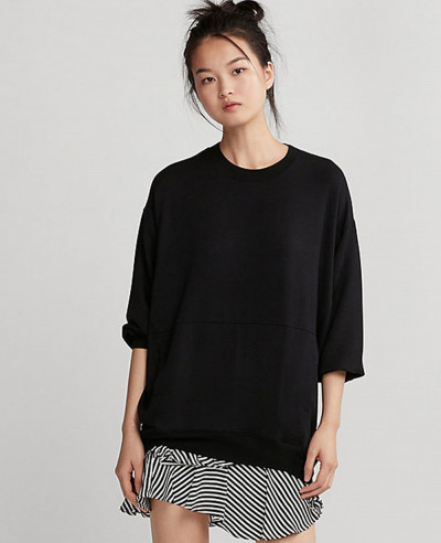 Oversized-Women-Black-Sweatshirt