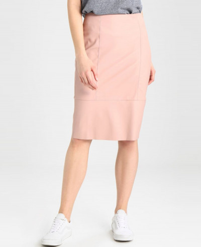 Pink-Fashion-Leather-Pencil-Skirt