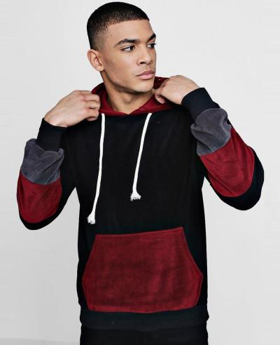 Pullover-Colour-Block-Fleece-Over-The-Head-Hoodie