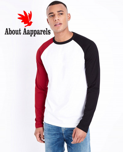 Red-Raglan-Long-Sleeve-Stylish-T-Shirt