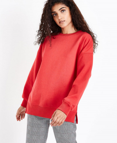 Red-Slouchy-Split-Side-Sweatshirt