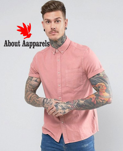 Regular-Fit-Denim-Shirt-In-Pink