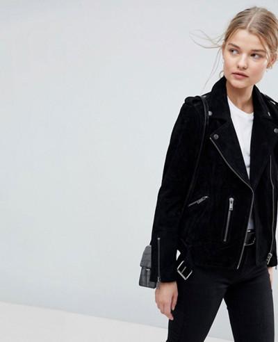 Selected-Femme-Suede-Biker-Jacket