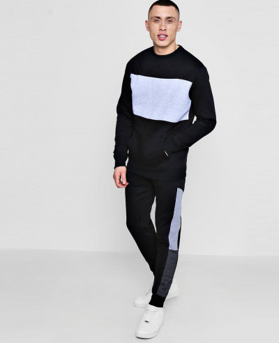 Skinny-Colour-Block-Sweater-Tracksuit