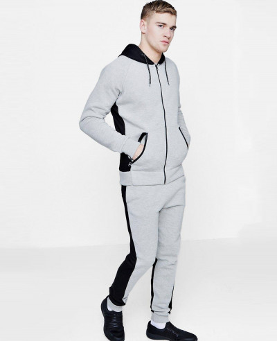 Skinny-Fit-Hooded-Half-And-Half-Tracksuit