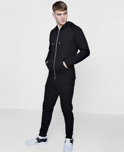 Skinny-Fit-Raglan-Hooded-Tracksuit