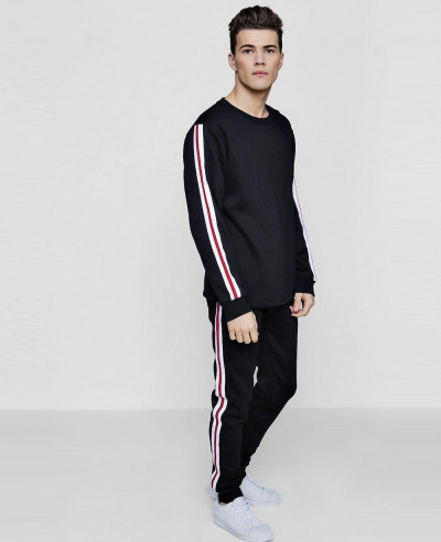 Skinny-Stripe-Sweater-Tracksuit