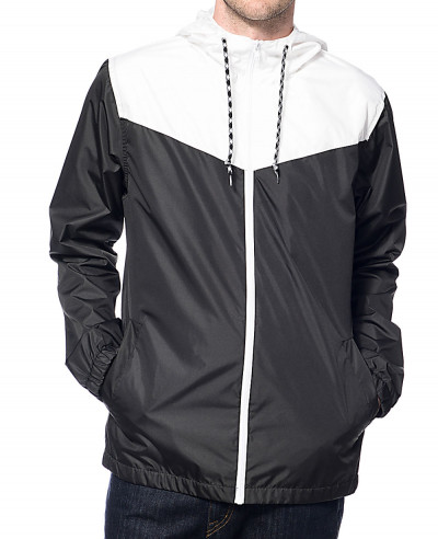 Sprint-White-&-Black-Windbreaker-Jacket