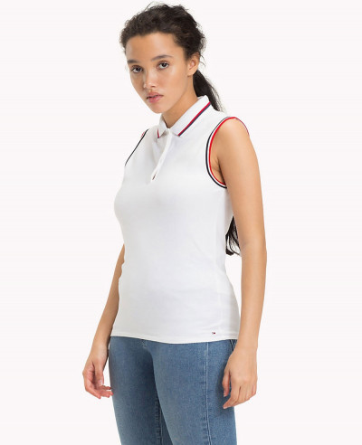 Stretch-Cotton-Sleeveless-Polo-Shirt
