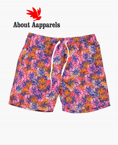 Sublimation-Men-Custom-Tropical-Print-Swim-Shorts