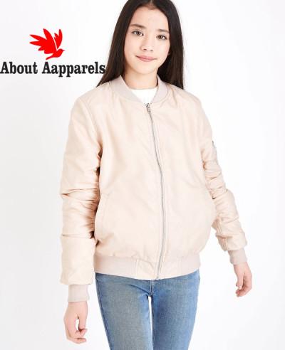 Teens-Pink-Satin-Bomber-Jacket
