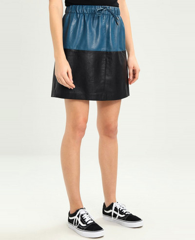 Two-Tone-Custom-Leather-Skirt