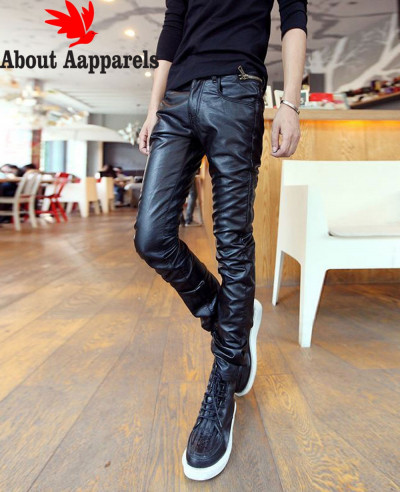 Vintage-Men-100-Percent-Leather-Pants-Black-Motorcycle