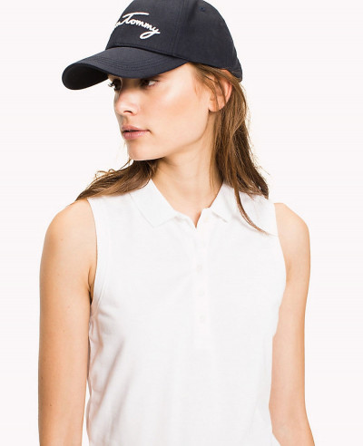 White-Sleeveless-Fitted-Polo-Shirt