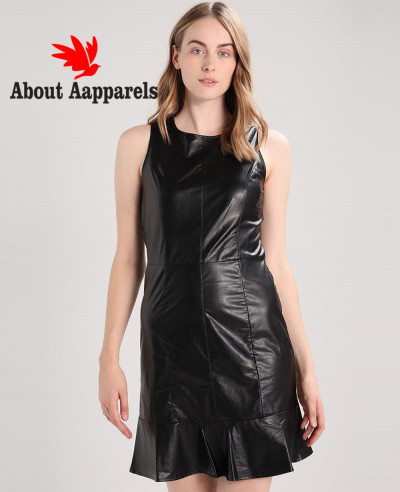 Wholesale-Custom-Real-Leather-Dress