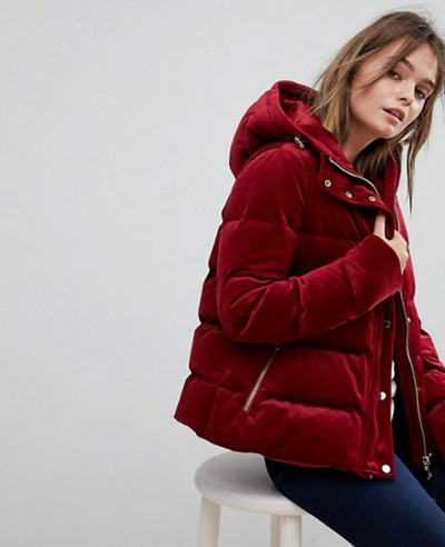 Women-Velvet-Hooded-Padded-Jacket