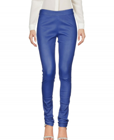 Women-Blue-Biker-Leather-Pant