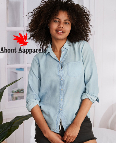 Women-Button-Down-Denim-Shirt