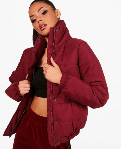 Women-Crop-Funnel-Neck-Padded-Jacket