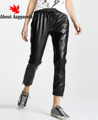 Women-High-Quality-Custom-Jogger-Biker-Leather-Pant