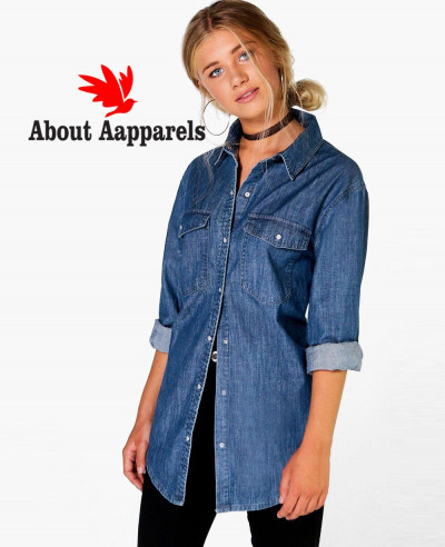 Women-Longline-Oversized-Denim-Shirt