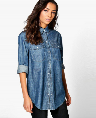 Women-Most-Selling-Oversized-Denim-Button-Shirt
