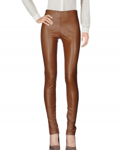 Women-New-Trendy-Lambskin-Leather-Skinny-Pant