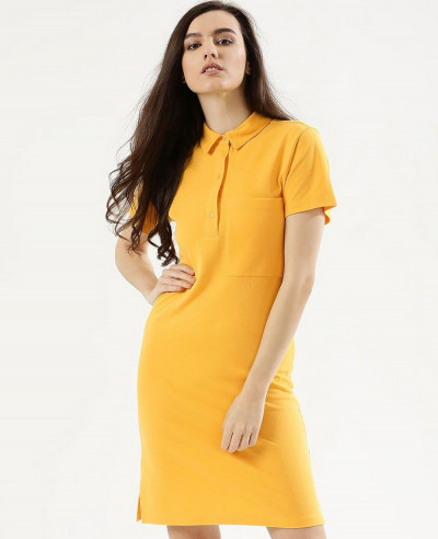 Women-Oversized-Pocket-Polo-Shirt-Dress