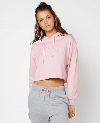 Women-Pink-Colour-Hooded-Crop-Top