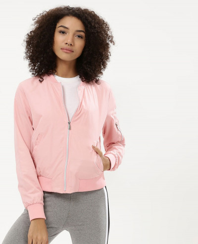 Women-Pink-Satin-Cropped-Bomber-Varsity-Jacket
