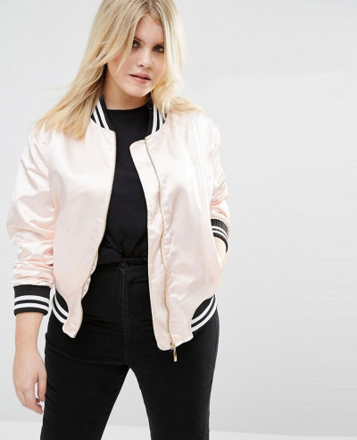 Women-Stylish-Varsity-Satin-Bomber-Jacket