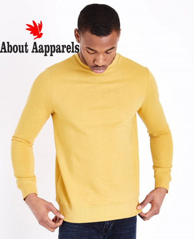Yellow-Crew-Neck-Sweatshirt